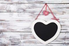 The heart shape chalkboard Royalty Free Stock Photo