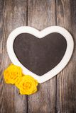 Heart shape chalkboard Stock Photo