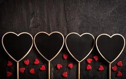 Heart shape chalkboards Stock Photography