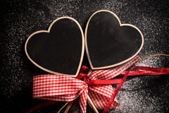 Heart shape chalkboards Stock Images