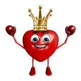 Heart Shape character with boxing gloves Royalty Free Stock Images