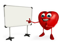 Heart Shape character with display board Stock Images