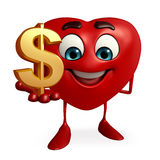 Heart Shape character with dollar sign Stock Image