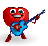 Heart Shape character with guitar Stock Photo