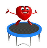 Heart Shape character with jumpbed Stock Photos