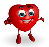 Heart Shape character is pointing Royalty Free Stock Photos