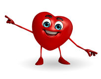 Heart Shape character is pointing Royalty Free Stock Photo