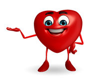 Heart Shape character is presenting Stock Images