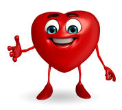 Heart Shape character with shakehand Royalty Free Stock Photos