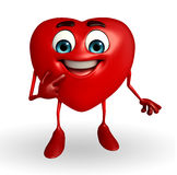 Heart Shape character with shy pose Stock Photography
