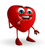 Heart Shape character with shy pose Stock Photo
