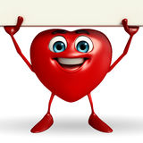 Heart Shape character with sign Royalty Free Stock Images