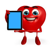 Heart Shape character with tab Stock Photography