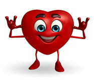 Heart Shape character with teasing pose Stock Photo
