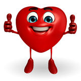 Heart Shape character with thumbs up pose Stock Images