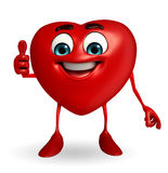 Heart Shape character with thumbs up pose Stock Photo