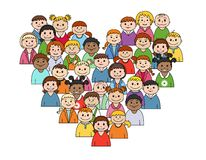 Heart shape with childs Royalty Free Stock Photo
