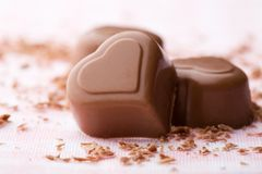 Heart shape chocolate Stock Image