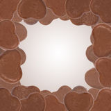 Heart shape of chocolate border Royalty Free Stock Image