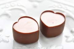 Heart shape chocolate candies Royalty Free Stock Image