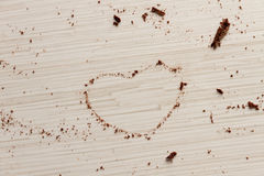 Heart shape from chocolate Royalty Free Stock Photography