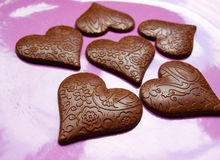Heart-shape chocolate Royalty Free Stock Images