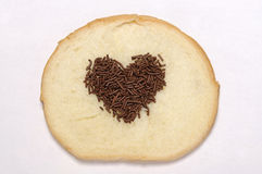 Heart Shape Chocolate Sprinkles Royalty Free Stock Images