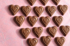 Heart shape chocolate Valentines Day symbols of love Stock Images
