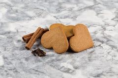 Christmas gingerbread cookies cinnamon Stock Photos