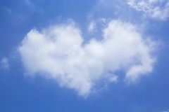 Heart shape cloud Royalty Free Stock Photography
