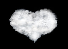 Heart shape cloud isolated on black Royalty Free Stock Photography