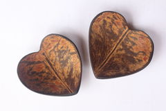 Heart shape coconut shell Stock Photo