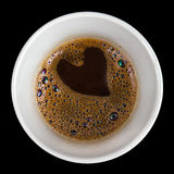 Heart shape in coffee stock photos