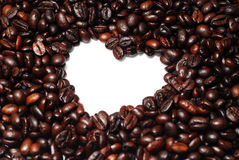 Heart Shape Coffee Bean Stock Photography