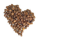 Heart shape coffee bean Stock Images