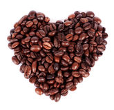 Heart shape coffee bean isolated Royalty Free Stock Photography