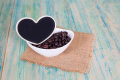 Heart shape with coffee bean Royalty Free Stock Image
