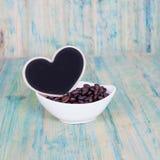 Heart shape with coffee bean Stock Photo