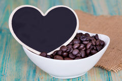 Heart shape with coffee bean Stock Image