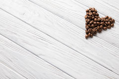 Heart shape. With coffee beans Stock Image