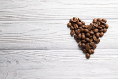 Heart shape. With coffee beans Stock Photo