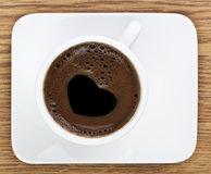 Heart Shape Coffee Foam Royalty Free Stock Photography