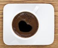 Heart Shape Coffee Foam Royalty Free Stock Photography