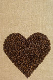 heart shape from coffee grains Royalty Free Stock Photography