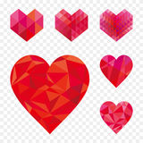 Heart shape collection. Royalty Free Stock Image