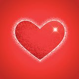 Heart shape on colorful background to the Valentine's day. Royalty Free Stock Image