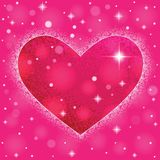 Heart shape on colorful background to the Valentine's day. Stock Photography