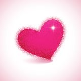 Heart shape on colorful background to the Valentines day. Royalty Free Stock Photos