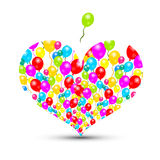 Heart Shape with Colorful Balloons Royalty Free Stock Photography