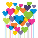 Heart shape in colorful balloons. Valentine`s day. Stock Photography